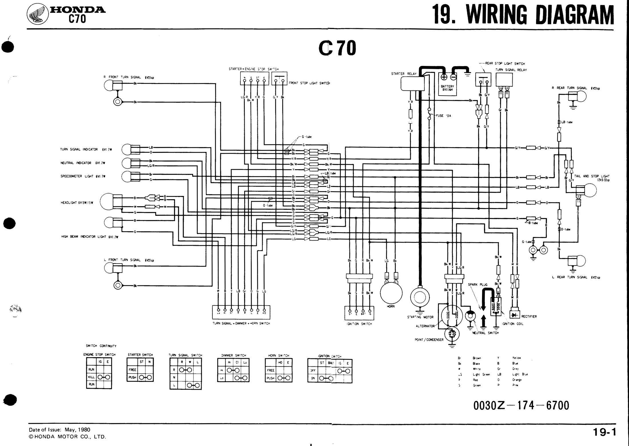 C70 Honda Wiring Diagram on electric bike wiring diagram